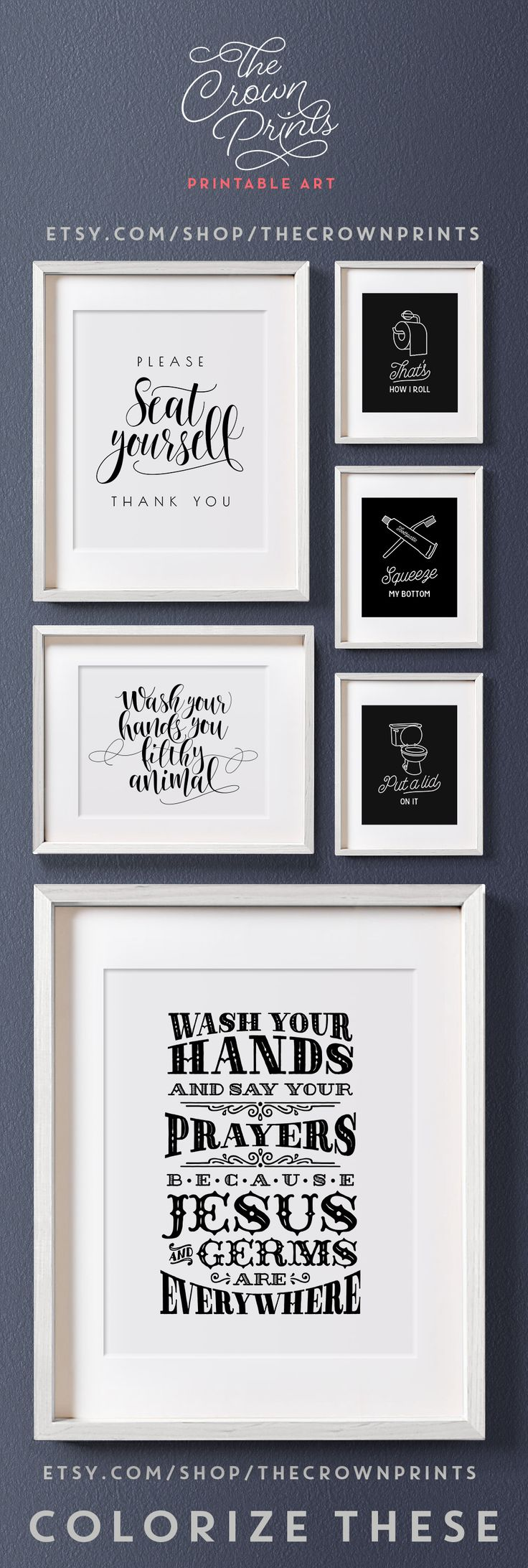 148 best Bathroom images by The Crown Prints on Pinterest | Bathroom ...