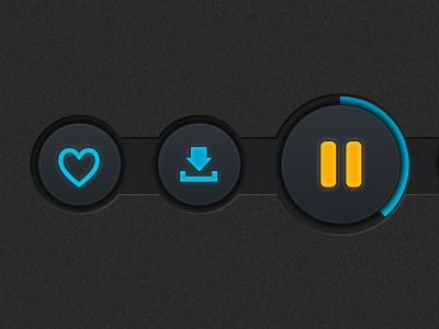 Player Buttons by Ugur Akdmr. #interface