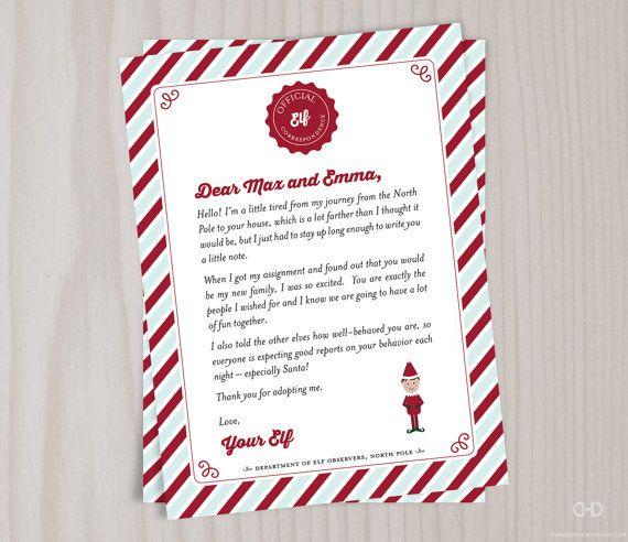 The 25 best Elf goodbye letter ideas on Pinterest Elf letters