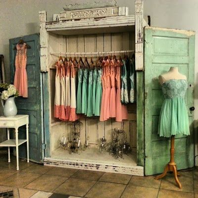 Old Furniture and Door Pieces made into Something New - this time a Closet. Everyday is a Holiday