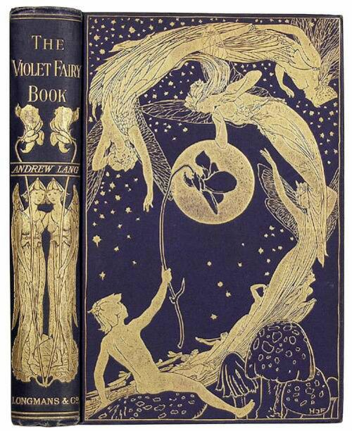 Violet Fairy. So pretty.      The Violet Fairy Book  Andrew Lang, editor  London  Longman's, Green, and Company  1901   .    .