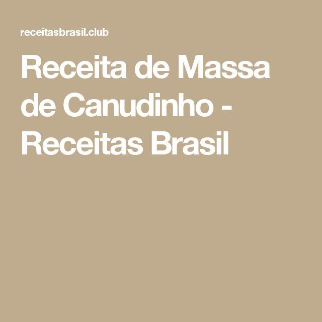 Receita de Massa de Canudinho - Receitas Brasil