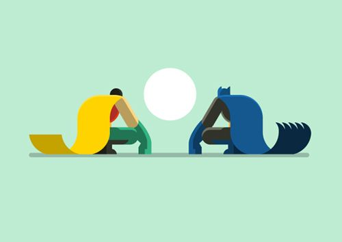#flat #design French artist Bunka has created a series of superhero illustrations which take cues from the flat design trend, including Batman, the Teenage Mutant Ninja Turtles and Spider-Man. As a toy designer, Bunka's style comes across as playful and fun-fuelled as can be and we couldn't be happier to have discovered his works.