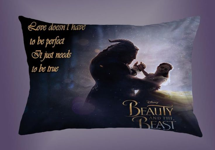 """Best Cheap Design Beauty And The Beast Pillow Case 16""""x24"""" Limited Edition #Unbranded #pillowcase #pillowcover #cushioncase #cushioncover #best #new #trending #rare #hot #cheap #bestselling #bestquality #home #decor #bed #bedding #polyester #disney"""