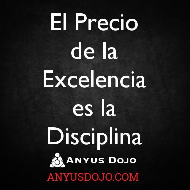 El precio de la excelencia es la disciplina. Inicie su camino hoy en Anyus Dojo. http://AnyusDojo.com/visita