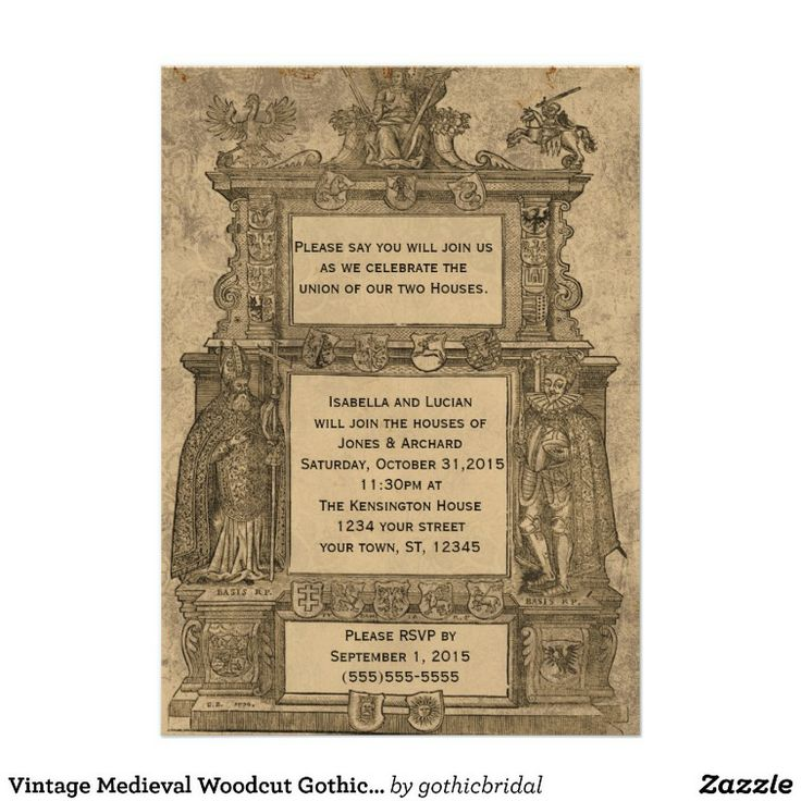 28 Best Medieval Wedding Invitations Images On Pinterest: 12 Best Invitations Images On Pinterest