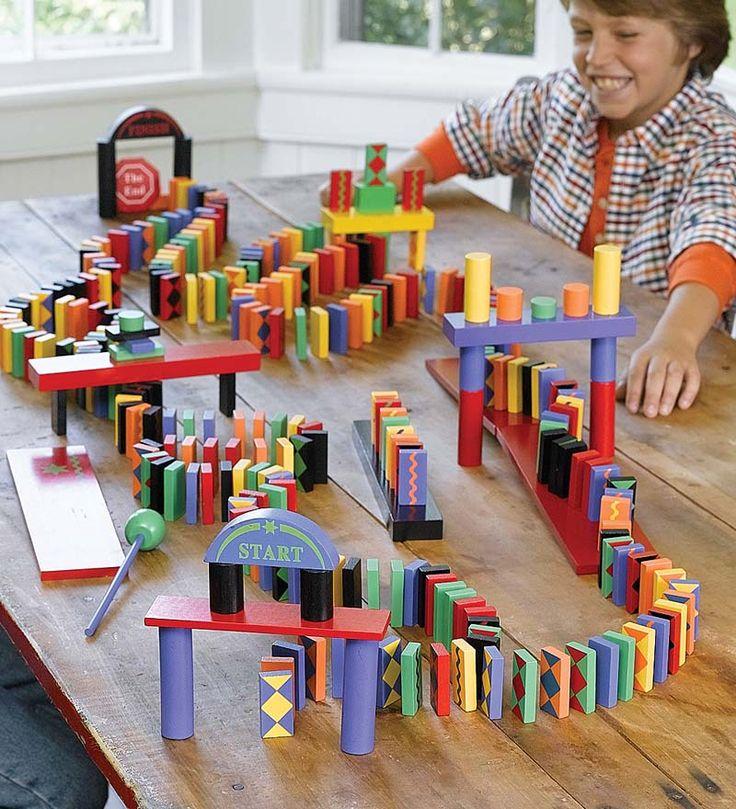 Ultimate 255 Piece Domino Race Set Arrange The Dominoes