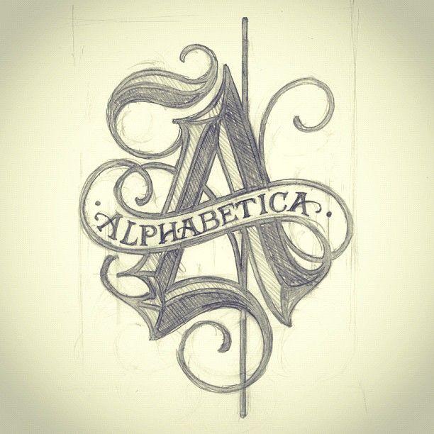 Création #Alphabet Gothique