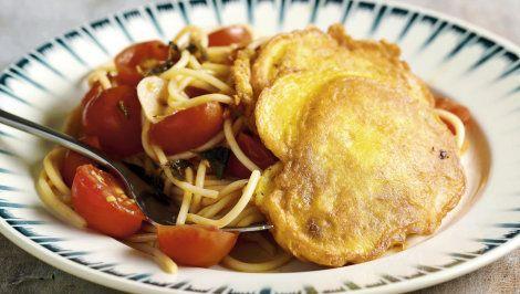 Piccata Milanese et spaghettis