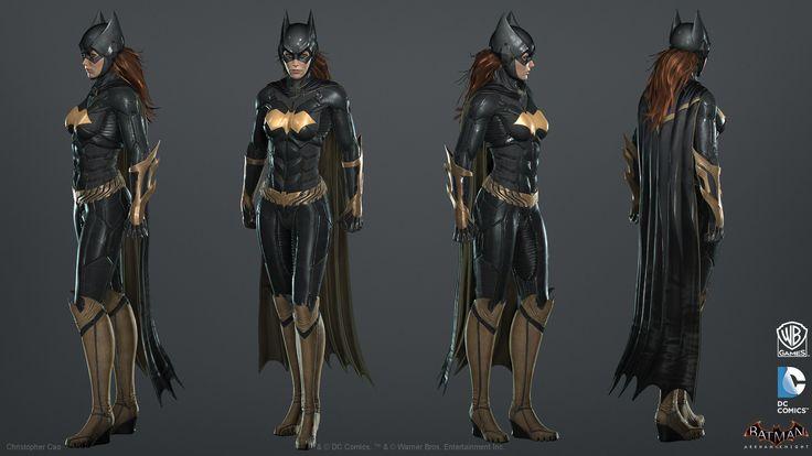ArtStation - Batman: Arkham Knight DLC, Batgirl Game Model, Christopher Cao