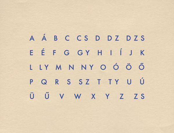 Anna Kovecses  :  The Hungarian Alphabet         Trendland