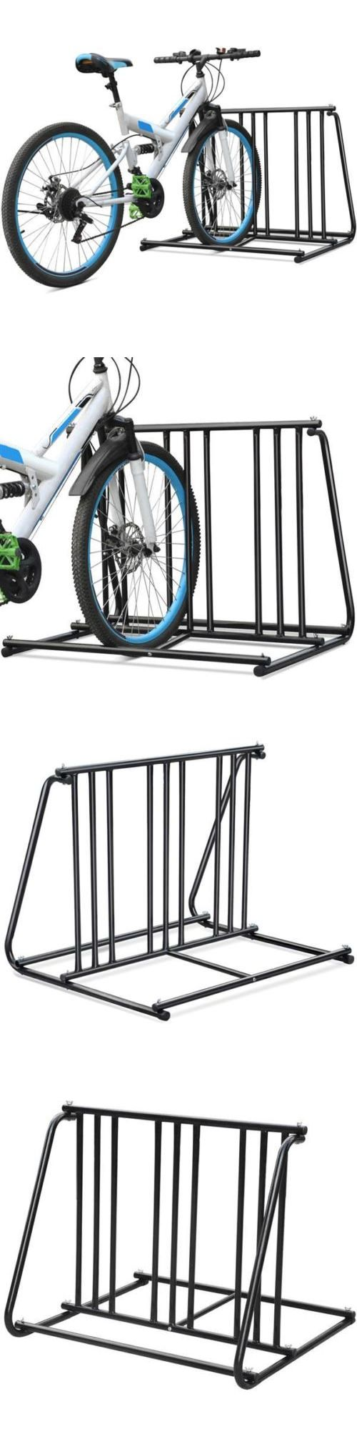 Bicycle Stands and Storage 158997: Black Bikes Floor Mount Bicycle Stands Park Storage Parking Rack Steel 1-6 -> BUY IT NOW ONLY: $33.99 on eBay!