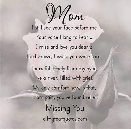 Missing Mommy/Grief 12-26-16