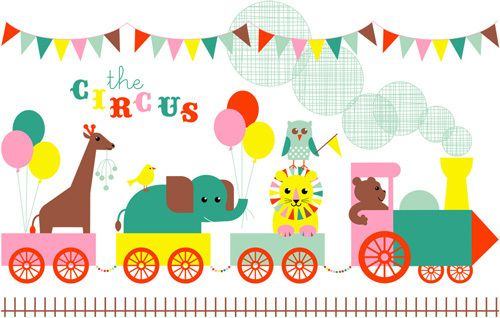 Circus Train Art Print by Marie Perkins Easyart.com