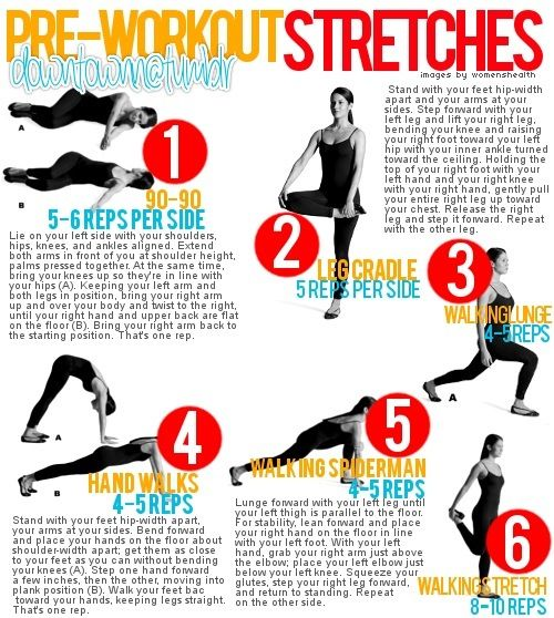 Pre-workout stretches