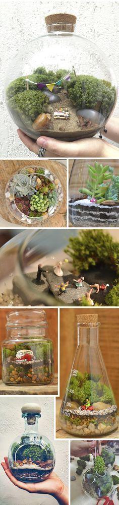 As amigas Lina e Ju criaram a Jardim no Poteem 2013, para trazer um pouquinho mais de verde, arte e amor para a decoração das casas dessa selva de pedras que é São Paulo. Elas criam mini-jardins (chamados de terrários) dentro de qualquer recipiente e tamanho. Desde vidros de conserva,…