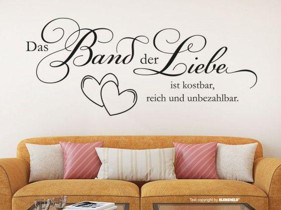 Perfect Wandtattoo Liebe ist Leben Spr che Schlafzimmer Wohnzimmer M schwarz cm x cm