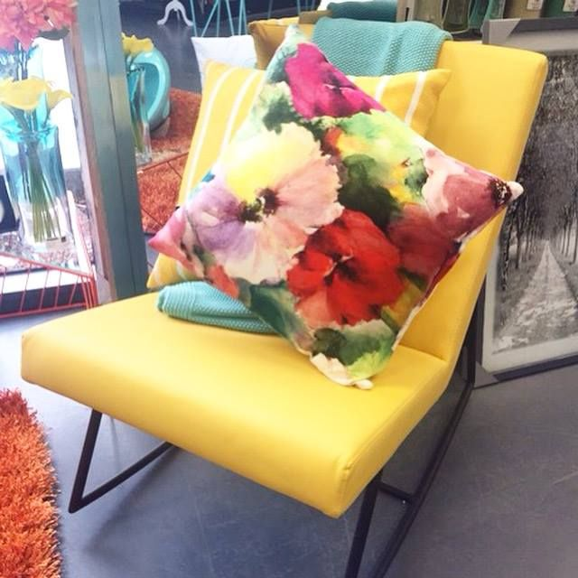 We're smitten with our new yellow rocking chair only available @dcb_designs #rockingchair #chair #yellow #home #homewares #furniture #dcbdesigns #interiors