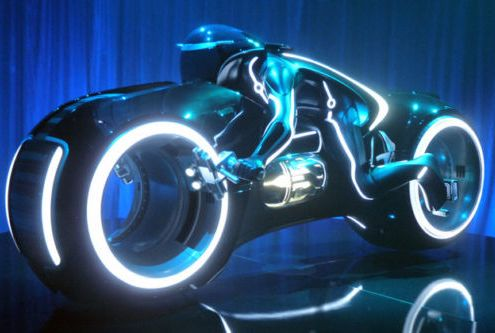 Electric Tron Cycle, who's not going to want one of these?