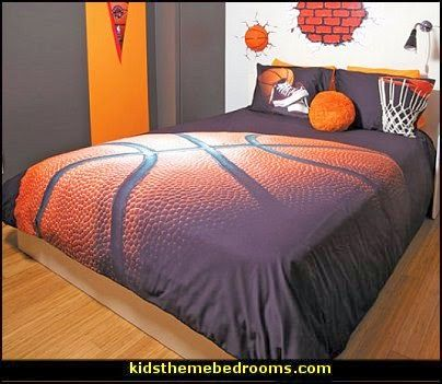 basketball bedding basketball theme bedrooms basketball bedding - Sports Bedroom Decorating Ideas