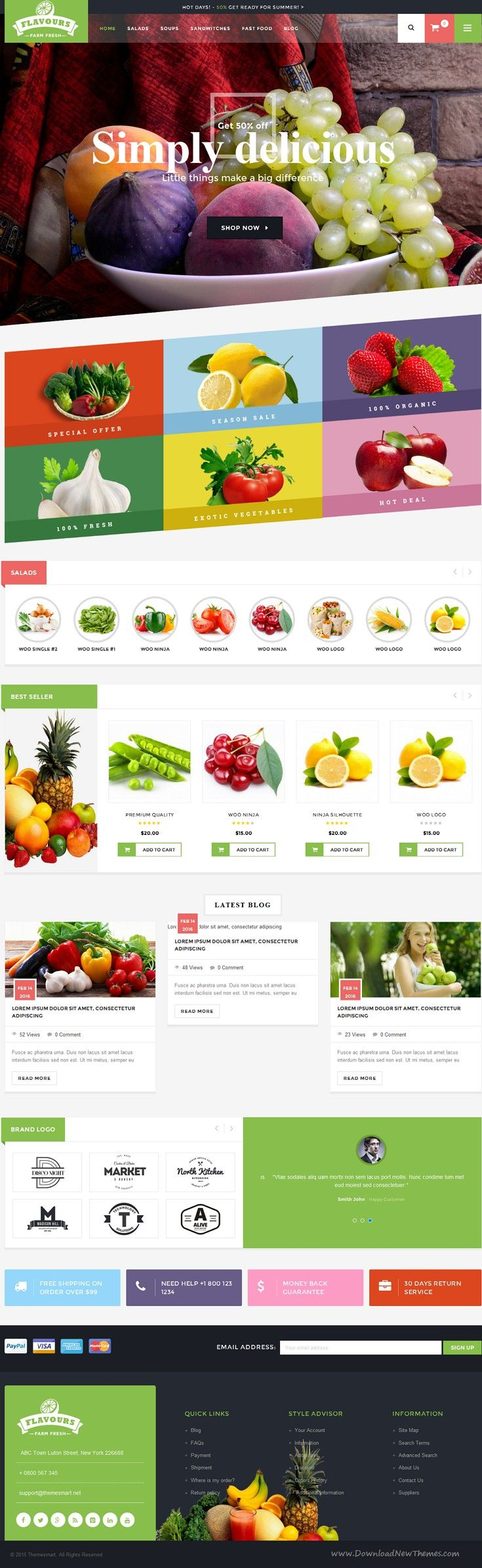 Flavours is a responsive WordPress WooCommerce theme for #supermarket, #organic food store or any eCommerce shop #website. Download Now!