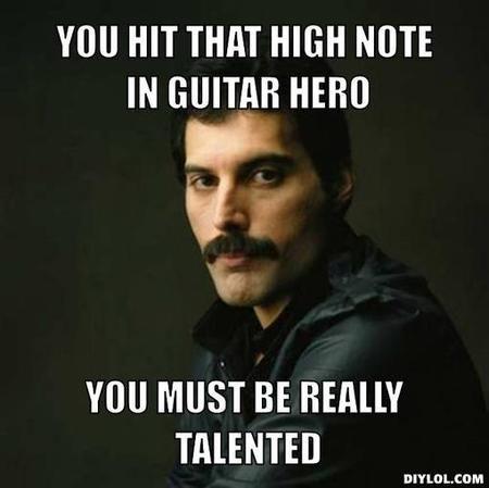 Unimpressed Freddie Mercury