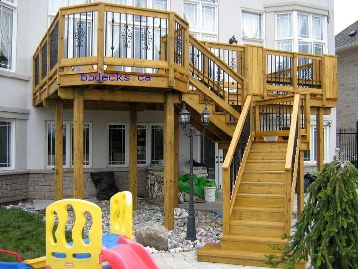 109 best decks images on pinterest home ideas for High elevation deck plans