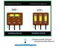 Esquemas eléctricos: Conexión estrella triángulo en borneras motor trif...