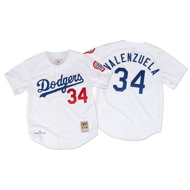 Fernando Valenzuela 1981 Authentic Jersey Los Angeles Dodgers - Shop Mitchell & Ness MLB Authentic Jerseys and Replicas