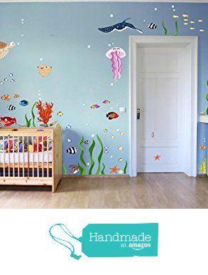 Fabulous Wandtattoo Unterwasserwelt XXL Unterwasserwelt Ozean Meerestiere Fische Wandsticker f r Kinderzimmer von der MHBilder
