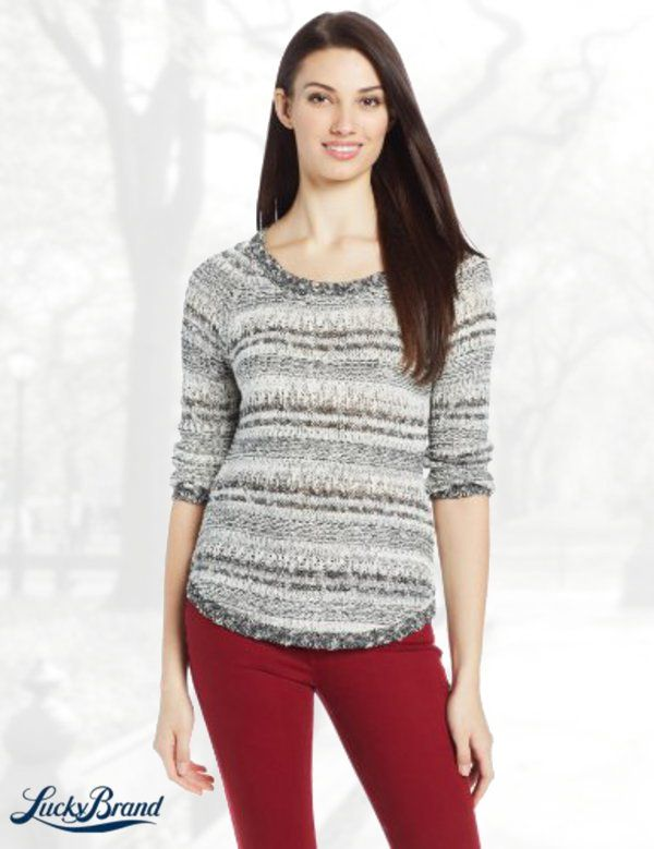 Lucky Brand Women's Opal Boatneck Pullover Sweater