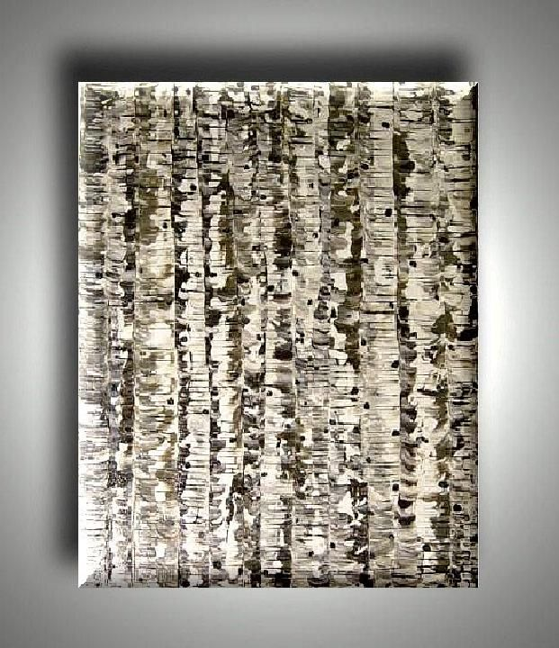 BLACK WHITE BIRCH TREE PAINTING Consignments Welcome ...