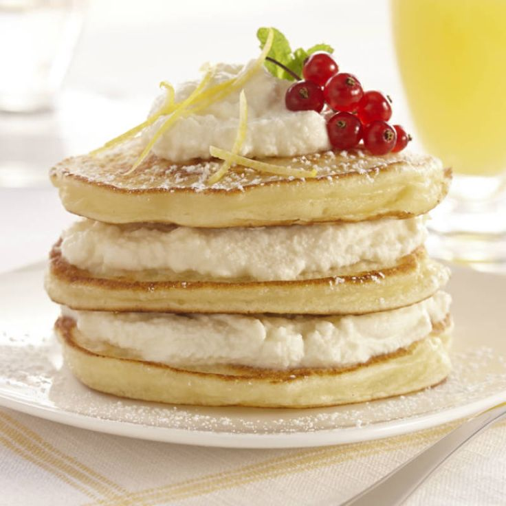 Swirl ricotta cheese into pancakes to make them light and fluffy. Add Pure Lemon Extract for lemon flavor without tartness.