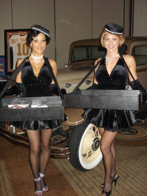 J and D Entertainment 1920's and 1930's Cigarette Girls! Houston Wedding Entertainment