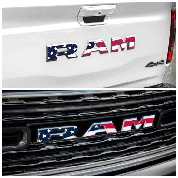 FITS Dodge Ram Rebel Front Grill Emblem Overlay Decals CHECK IT OUT 15 16 17 18