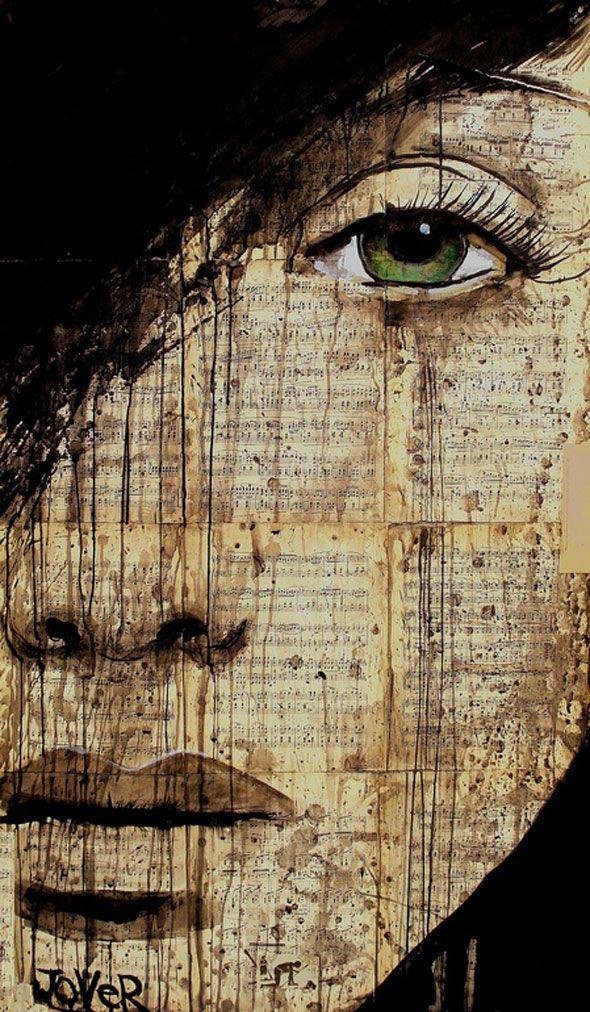 3 Illustration Encre Noir Loui Jover  Illustrations par Loui Jover : Emotions, Papier Usé et Encre Noire