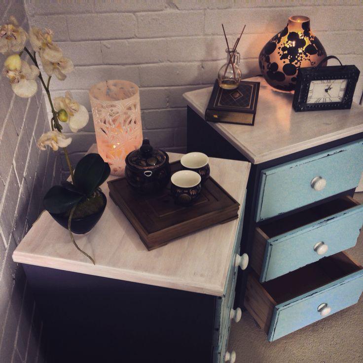 Modern shabby chic restored drawers  www.facebook.com/RestoredbyGil