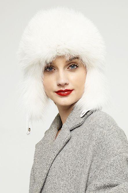 fur hat for women 530 white