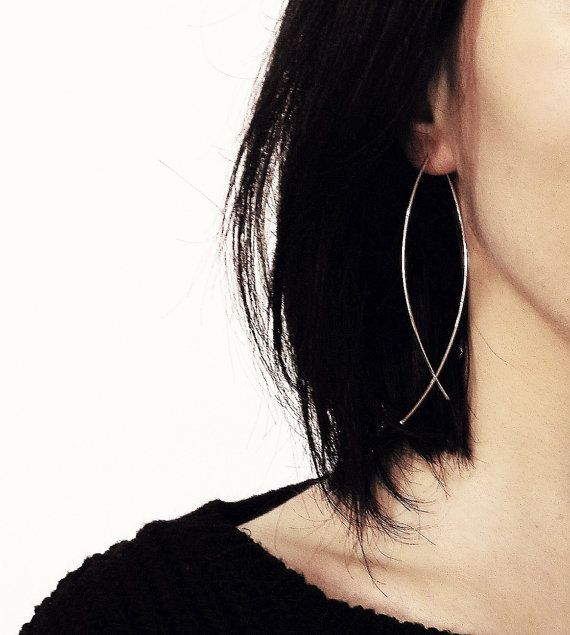 Hey, I found this really awesome Etsy listing at https://www.etsy.com/listing/62593904/original-almond-hoop-earrings-handmade