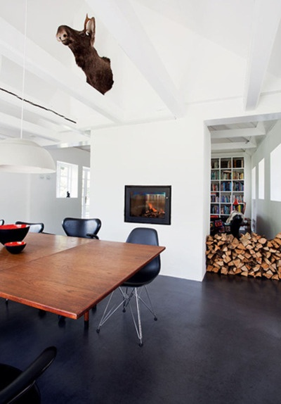 black concrete floors? Heck yeah! Our concrete floors are red and we love them!!