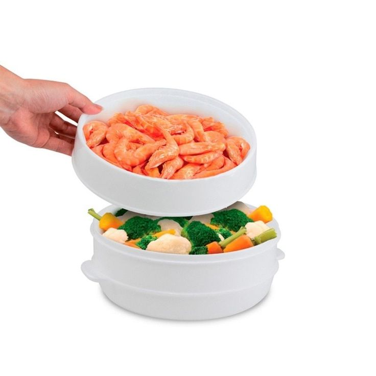 Imperial Home Food Steamers 2-tier Vegetable/Fish Microwave Steamer/Cooker