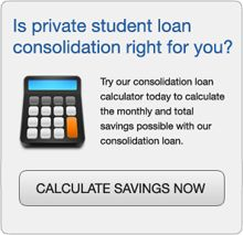 Consolidating private student loans calculator