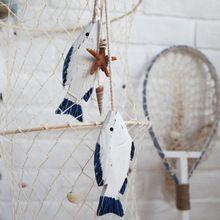 Stredomorskom štýle Fish príveskom Wood dekorácie remeslá Marine fish1 string = 2ks, Prihlásiť Námorná Decor Carving Drevené Fish (Čína (pevninská časť))