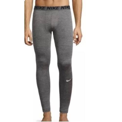 Nike Mens XL 2XL Heathered Compression Full Length Gray Pants Tights 896747-010 #Nike #Pants