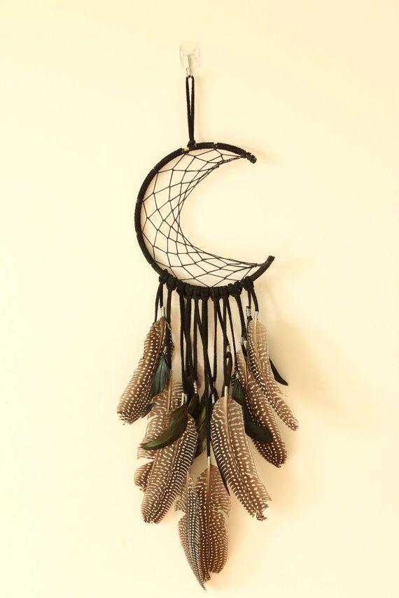 crescent moon dream catcher by Jade Sappington