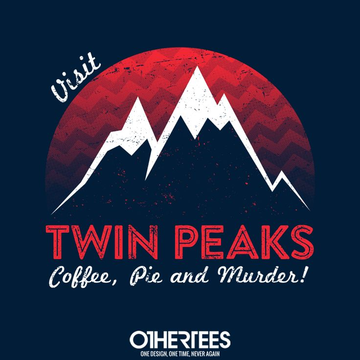 """Visit Twin Peaks"" by alecxps T-shirts, Tank Tops, V-necks, Sweatshirts and Hoodies are on sale until February 12th at www.OtherTees.com #TwinPeaks #OtherTees #DavidLynch #Lynch #Tshirts #BlackLodge"