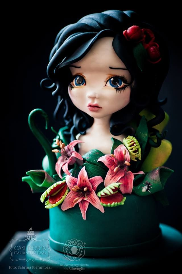 Holy Hannah! Now that's amazing! (Change the skin to green, and this would make a perfect top for a Monster High cake)!