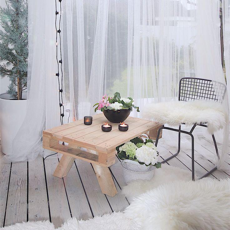 Diy bord laget av palle