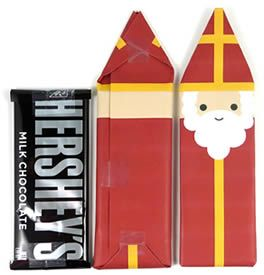 St. Nicholas Hershey bar, finished wrappers from st. nicholas center.  Cute gift for a friend, teacher, or child. For more pins like this visit: http://pinterest.com/kindkids/religious-education/