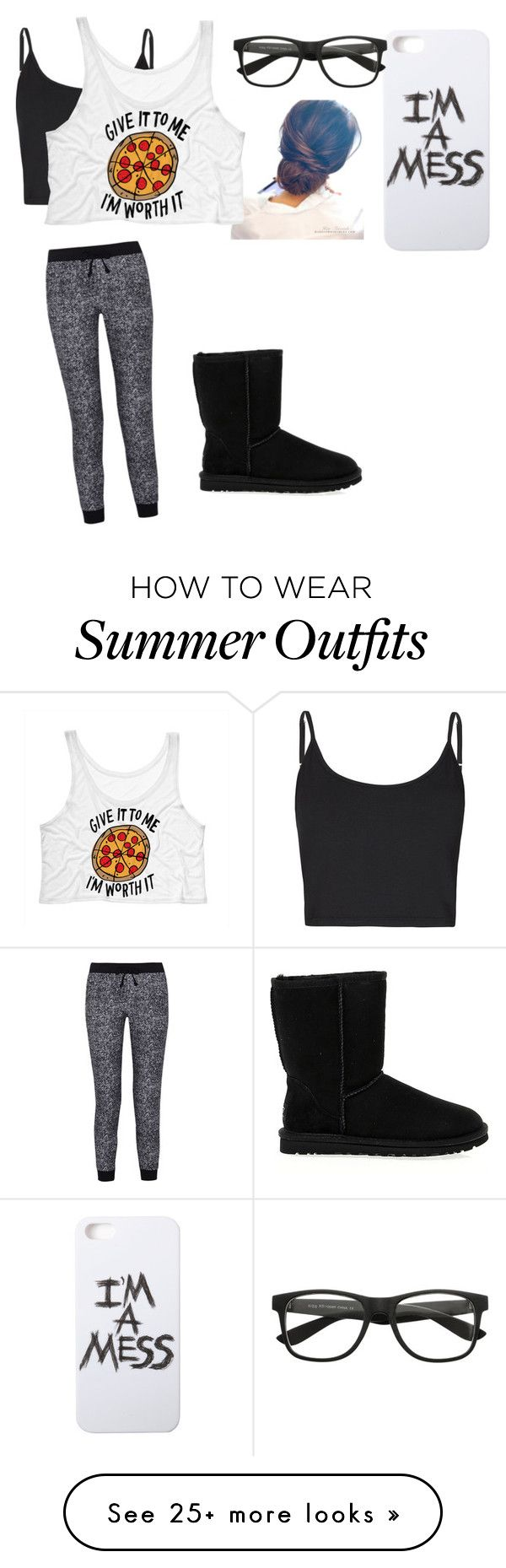 """Untitled #299"" by panda-love-me on Polyvore featuring LAUREN MOSHI, Bibee, Splendid and UGG Australia"